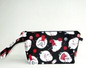 Wedge Bag, Small-Project Knitting Bag, Knitting Sheep