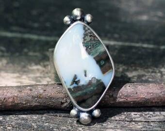 Ocean Jasper sterling silver ring size 7