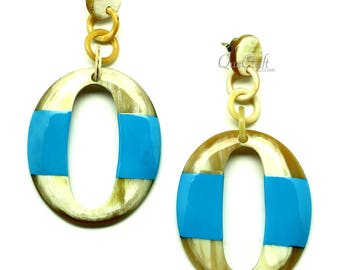 Horn & Lacquer Earrings - Q12854-L