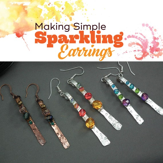TUTORIAL: Sparkling Aluminum Earrings (Wire-Wrapped Earring Instructions)
