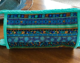 Turquoise and Gold Gear bag