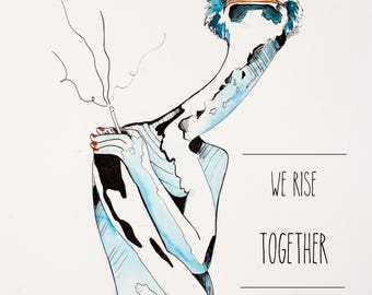 We Rise, Together Myrtle print