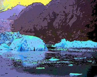 Alaska.  Ice  Canvas Wall art Pop Art