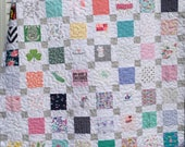 Reserved for Valeria BABY CLOTHES Quilt Twin Size Bed Heirloom Memory Quilt Custom Order - Using Your Baby Clothes 68x86
