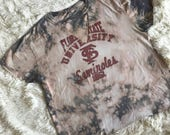 Large Florida State Revamped Bleach-dyed Choker Tee