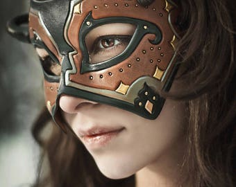 RESERVED for Daniel...custom Persian leather mask