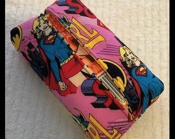Super girl / Bat girl / Wonder woman Kleenex tissue holder case