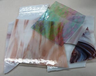 Large Pieces of Scrap Glass for Stained Glass and Mosaics - 1 lb., 11 oz.