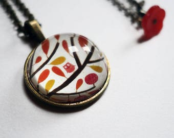 The tiny OWL necklace CO097B
