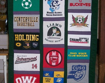 Custom T-shirt Quilt made with your 20 t-shirts