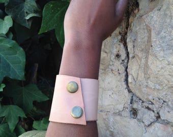 Second Skin: Steampunk Leather Cuff Bracelet