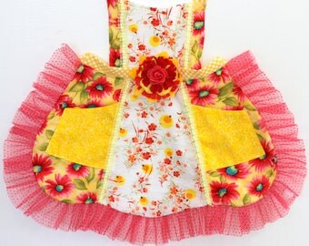 Summer Lightening Bugs Apron, firefly apron, girls apron, toddler apron