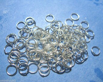 Jump Rings 6mm 200 Silver Plated Jewelry Finding Supply open jump ring
