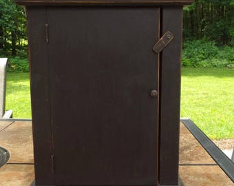 Distressed Black Cabinet Cupboard Embroidery Floss Hanger Box