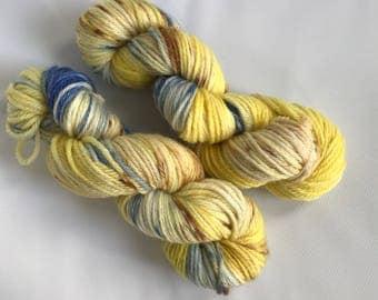 Hand-dyed yarn, Indie dyed yarn, hand dyed yarn BLUEBERRY CHEESECAKE --ready to ship --  Flushing Meadows bulky superwash wool yarn