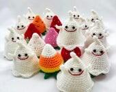 PDF Amigurumi / Crochet Pattern Halloween Strawberry Ghost Memory Game CP-17-3412