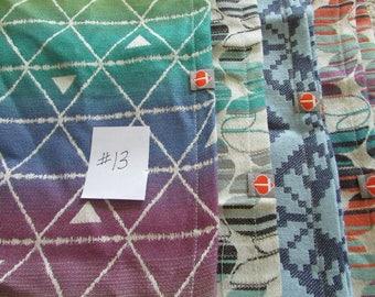 Wrap Scrap Fabrics #13 - Tekhni Delta, Laurel, suck pads, drool pads, from woven baby wrap carriers, mobiles, clothing, woven baby scraps