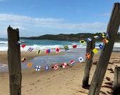 Nautical flags garland, A-Z, Small flags