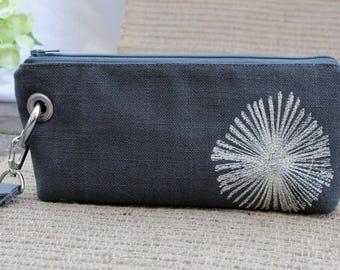 Zipper Pouch Clutch Wallet - Long Wallet - Cell Phone Wallet - Errand Runner Fabric Wallet Wristlet - Formal - Wedding - Evening Bag