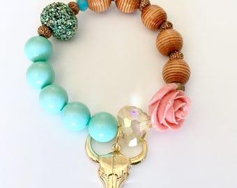 Desert Rose Stretch Bracelet