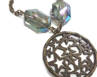 Sparkle Bronze Stars Necklace