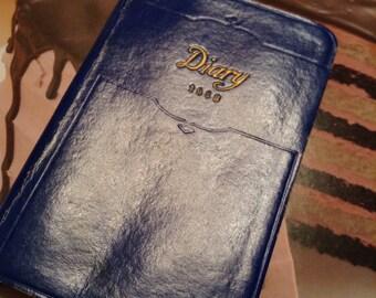 1938 Pocket Diary Unused Small Navy Pocket Diary ....Free Shipping
