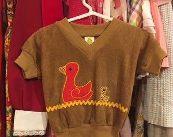 70s Duck Shirt 2/3T