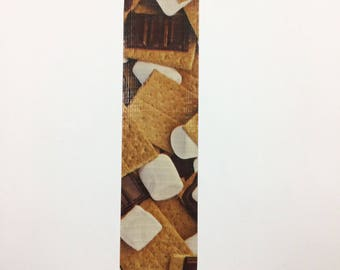 Bookmarks - duck duct tape - S'mores
