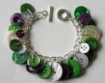 Votes For Women Button Bracelet 100 Year Anniversary White Purple Green