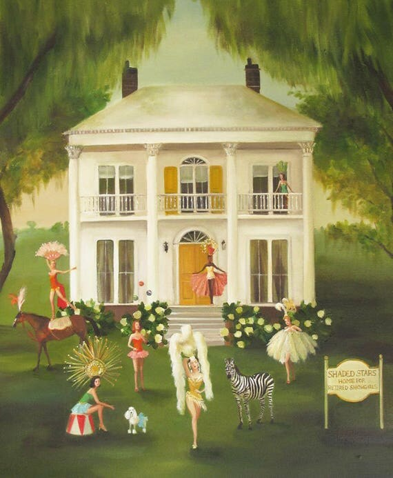 Shaded Stars, The Home For Retired Showgirls. Art Print