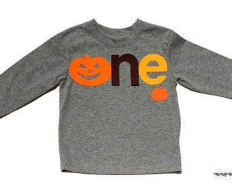 Halloween//Fall Birthday Theme Letters one...Fabric Iron On Appliques...Gender Neutral...Number Two Also Available