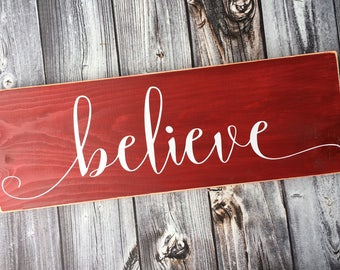 Believe sign | Etsy