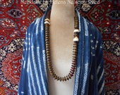 Kahwela necklace, earthy colors  and tribal inspired chic CLEARANCE