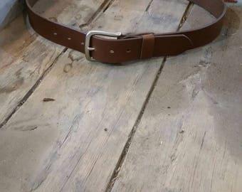 Wider leather belt