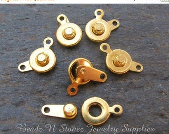 Summer Clearance Sale Gold Plated Snap Clasp 7mm - 6 Clasp