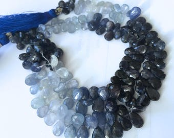 1/2 strand of gorgeous sapphire pears