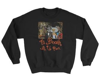 Halloween Wedding Skeleton Couple Romantic Tee Adult Unisex Sweatshirt