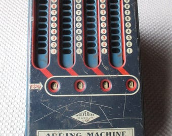 Vintage Wolverine Mechanical Adding Machine