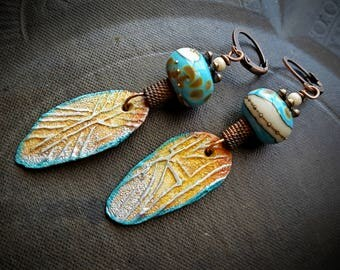 southwest petroglyph ceramic glass rustic tribal primitive lampwork glass