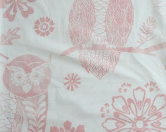 custom baby blanket ~ blush pink mckenna owl ~ chic couture ~ baby accessories ~ custom made baby blanket from lillybelle designs
