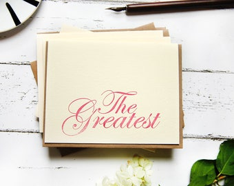 The Greatest Letterpress Card Set of 5