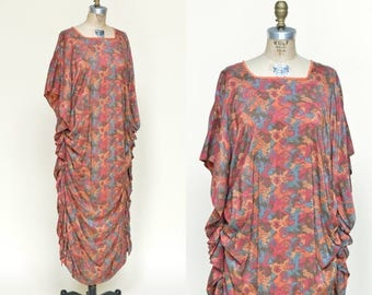 20% OFF 1920s Cocoon Gown --- Antique Silk Art Deco Dress