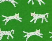 Cotton + Steel Fabric, Snow Leopard, C5134-002 Green, 100% Unbleached Cotton
