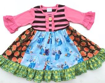 Disney Cinderella Castle dress Cinderella Christmas dress, toddler girl's Disney outfit, Disney clothing boutique girl's dress