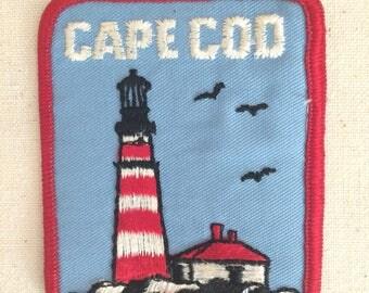 Vintage Patch Badge Applique Cape Cod USA Martha's Vineyard Nantucket peninsula  Massachusetts