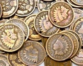 Authentic Indian Head Penny Coin Charms - Early 1900's