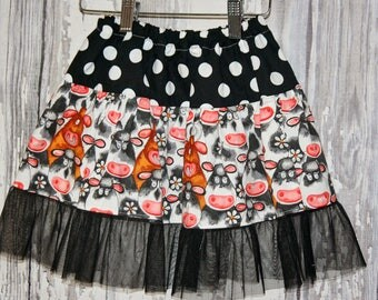 Going out of business SALE,girls skirt, cow skirt, western wear, size 3T skirt, Ready to ship