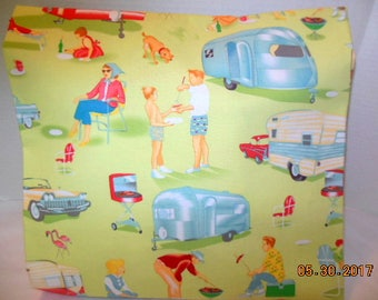 Vintage Camping/Campers Pillowcase/Sham