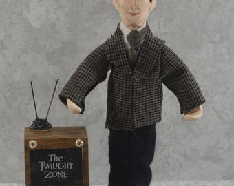 Rod Serling Doll Art Miniature Creator of The Twilight Zone Science Fiction Geekery