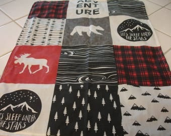 Mountaineer Minky Lovey Blanket 17 x 22 READY TO SHIP
